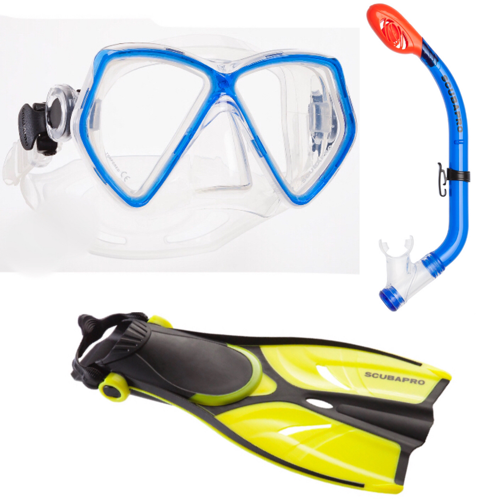 Snorkelset Silver Junior Blue
